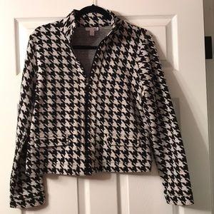 Houndstooth zip-up jacket!